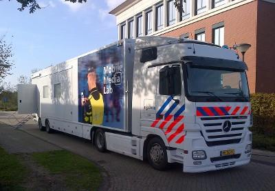 Mobile Media Lab van de Politie