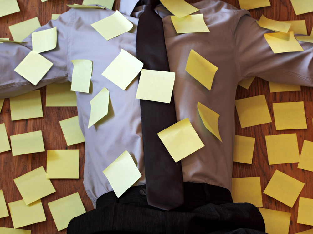 Scrum voor directeuren post-its