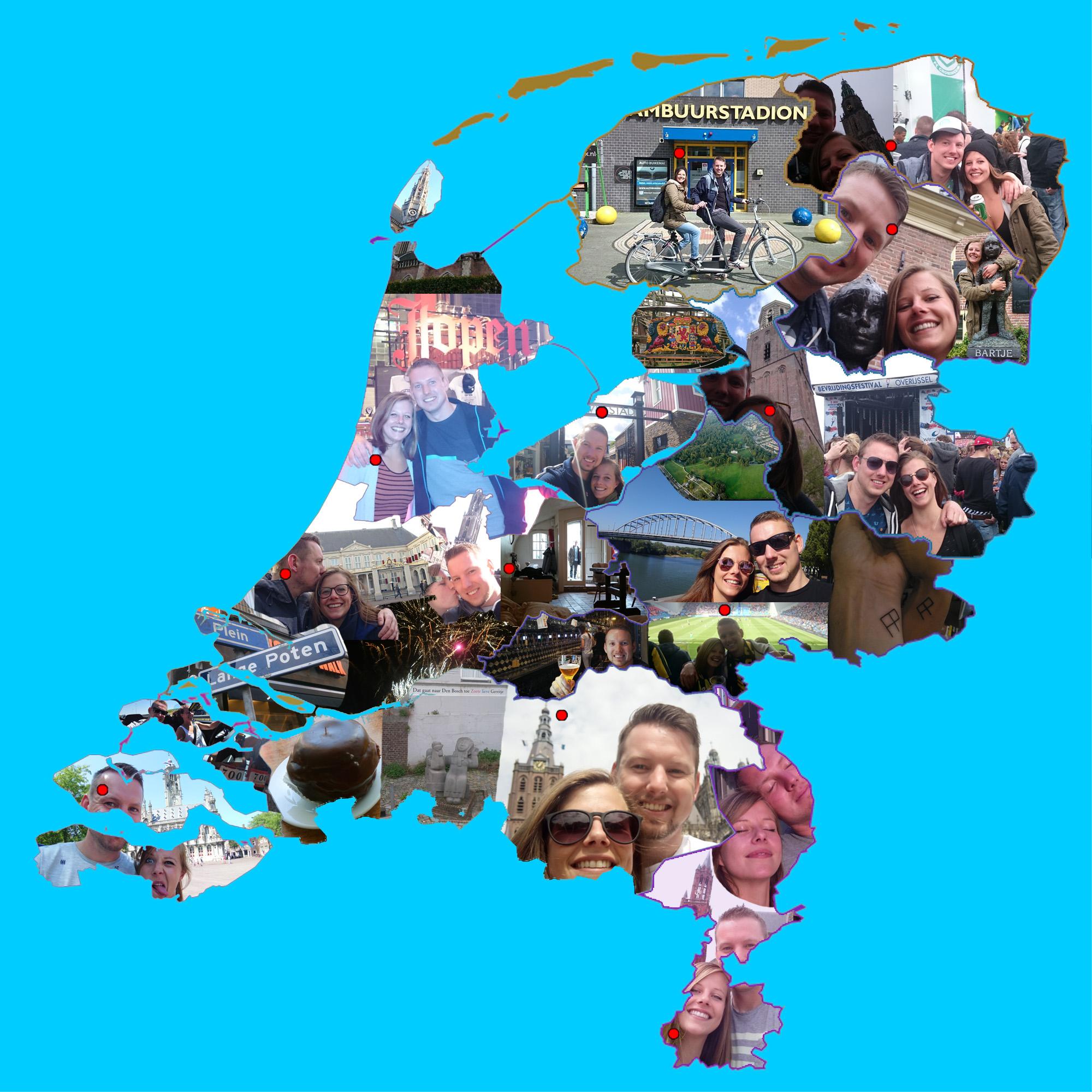 Provinciehoofdsteden Nederland bezocht