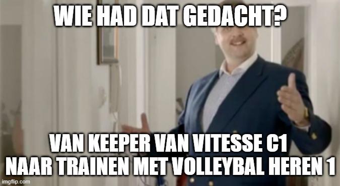 Meetrainen met volleybal Heren 1
