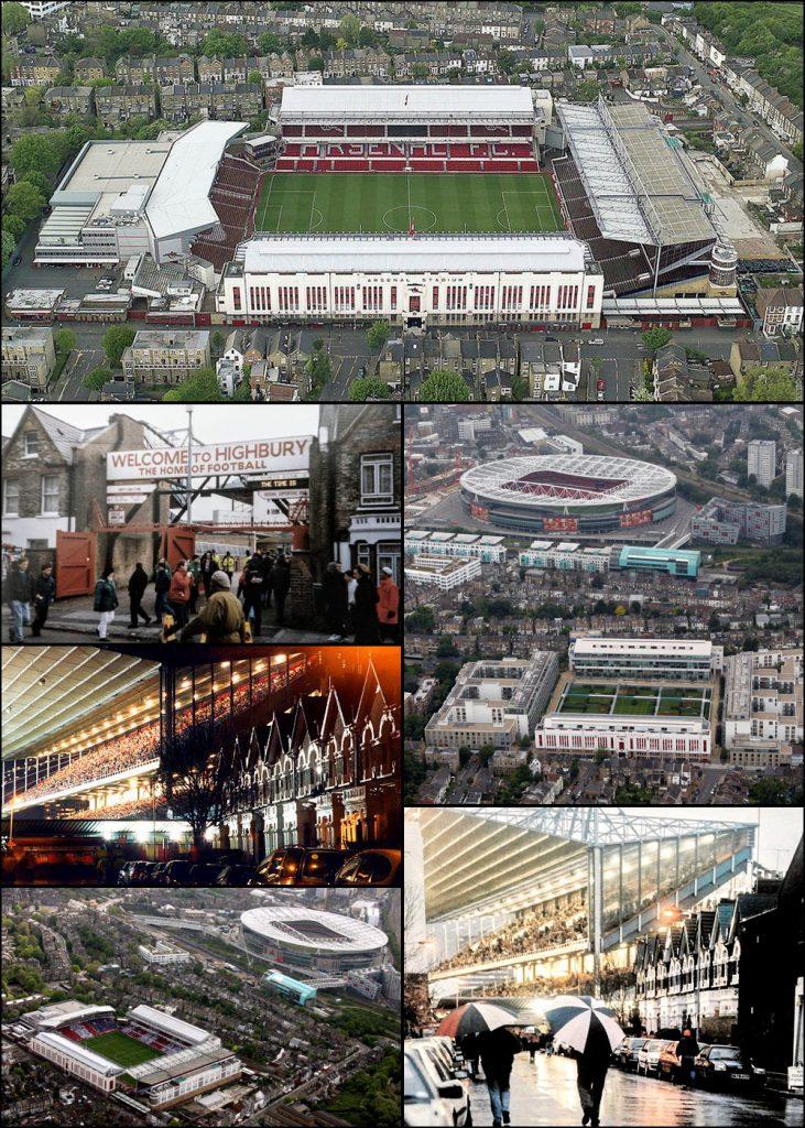 Highbury van Arsenal als voetbalstadion en als wooncomplex