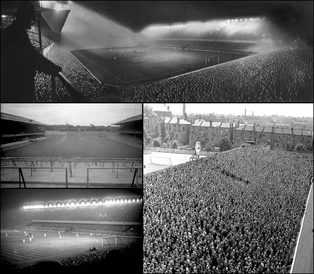 De eerste lichtwedstrijd op Highbury